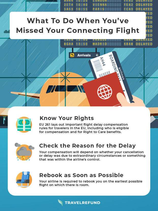 what to do when you've missed your connecting flight
